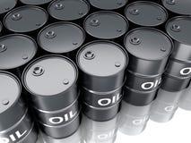 Huile noire de baril Photo stock
