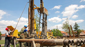 Huile Rig Workers photo stock