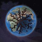 Huile sortant de la terre Peinture abstraite Image libre de droits