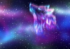 Huilend Wolf Spirit Royalty-vrije Stock Afbeelding