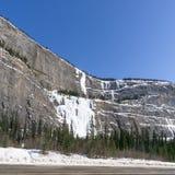 Huilende muur, het Nationale park van Banff, Canada Stock Foto