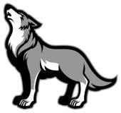 Huilende wolf stock illustratie