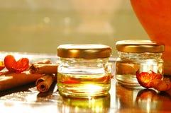 Huiles aromatiques faites maison Images stock