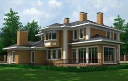 De buitenkant van het huis royalty vrije stock afbeelding afbeelding 17760576 - Huis buitenkant ...