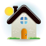 Huis stock illustratie