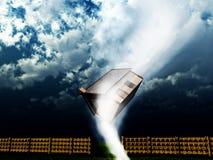 Huis 2 van de tornado Stock Afbeeldingen