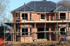 Huis in aanbouw. Stock Foto