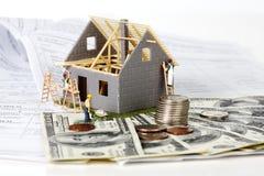 Huis in aanbouw. Stock Foto's