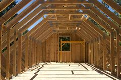 Huis in aanbouw Stock Foto's