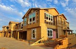 Huis in aanbouw (Groot Dossier) Stock Afbeelding
