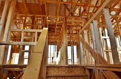 Huis in aanbouw (Groot Dossier) Royalty-vrije Stock Fotografie