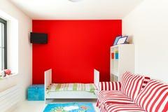 Huis, aardige slaapkamer Royalty-vrije Stock Fotografie