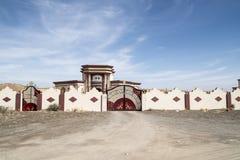 Huis achter omheining, Oman stock foto