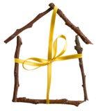Huis als gift Royalty-vrije Stock Fotografie