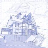 Huis - architectuurconcept Stock Afbeelding