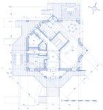 Huis - architectuurplan Stock Fotografie
