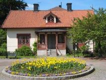 Huis bij de Ingang aan Tradgardsforeningen. Linkoping. Zweden Royalty-vrije Stock Afbeeldingen