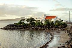 Huis bij de kust Stock Foto