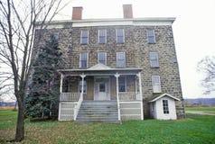 Huis bij het Uitgehongerde Park van de Rotsstaat, Utica, Illinois Stock Foto