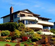 Huis bij kust royalty-vrije stock foto