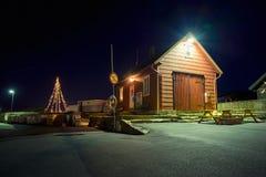 Huis bij Nacht Stock Foto's