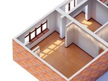 Huis binnenlandse planning stock illustratie