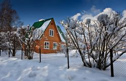 Huis in bos Stock Foto
