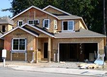 Huis in bouw stock fotografie