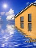Huis boven de oceaan Stock Afbeelding