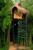 Huis boven op een boom stock foto