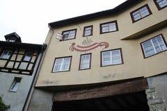 Huis in Bregenz, Oostenrijk Stock Afbeeldingen