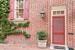 Huis buiten in het historische district van Philadelphia Royalty-vrije Stock Afbeeldingen