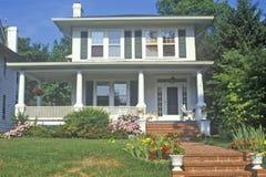 Huis in Chevy Chase, Maryland Stock Afbeeldingen