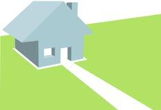 Huis Copyspace van de Illustratie van het huis 3D Royalty-vrije Stock Foto