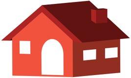 Huis 3D pictogram in ontwerp Stock Foto's