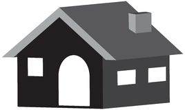 Huis 3D pictogram in ontwerp op een witte achtergrond royalty-vrije stock foto