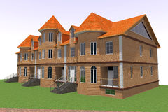 Huis 3D Rus Royalty-vrije Stock Fotografie