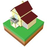 Huis 3D stijl royalty-vrije illustratie