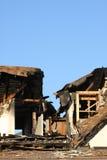 Huis dat door Brand wordt beschadigd Royalty-vrije Stock Foto's