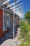 Huis dat door Christchurch Earthquake wordt vernietigd Royalty-vrije Stock Foto's
