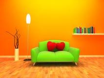Huis dat met liefde en warmte wordt gevuld vector illustratie