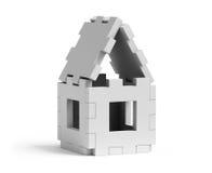 Huis dat uit raadsels wordt bijeengezocht Stock Foto's