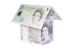Huis dat van geld wordt gemaakt Royalty-vrije Stock Foto's