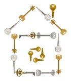 Huis dat van sleutels wordt gemaakt Royalty-vrije Stock Fotografie