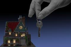 Huis in de avond Stock Afbeelding