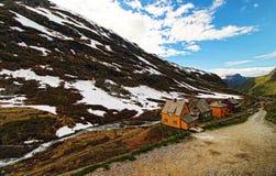Huis in de bergen Stock Foto's