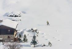 Huis in de bergen Skitoevlucht Livigno Stock Foto's
