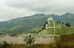 Huis in de Bergen van de Andes Stock Foto