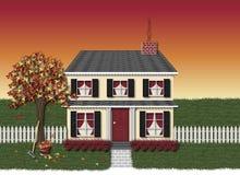 Huis in de Herfst Vector Illustratie