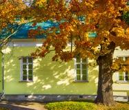 Huis in de Herfst Stock Afbeeldingen